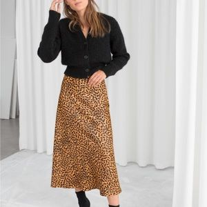 Dresses & Skirts - & Other Stories leopard print skirt size 4